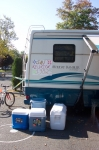 The coolers, the sign and of course Matt's RV