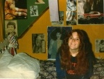 OK, now for some history......this is a picture of me in Duey Baab's room (our 'hang out' at the time).  If you can,